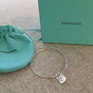 5892f8865 New Tiffany & Co Wire Bracelet with Lock Charm